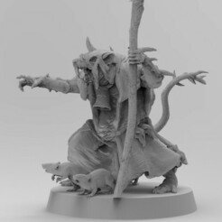 Plague Priest Thumb.jpg Download free 3MF file Poxed Rat Priests • 3D printing object, EmanG