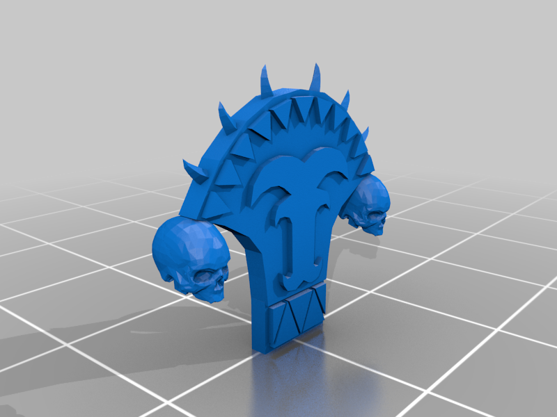 Chair_Crest_Decal.png Download free 3MF file One-Armed Dino-Jesus & His Pet Tyrannosaur • 3D printing model, EmanG