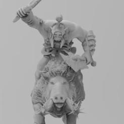 Savage Boar Boyz Thumb.jpg Download free 3MF file Madlad Git Hog Riderz • 3D printing object, EmanG