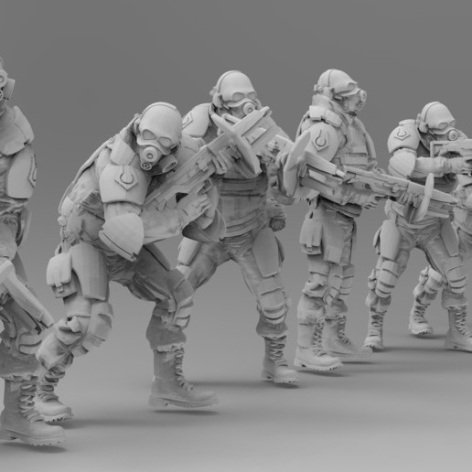 untitled.1374.jpg Download free 3MF file Combine Overwatch Soldiers (Half-Life) • 3D print template, EmanG