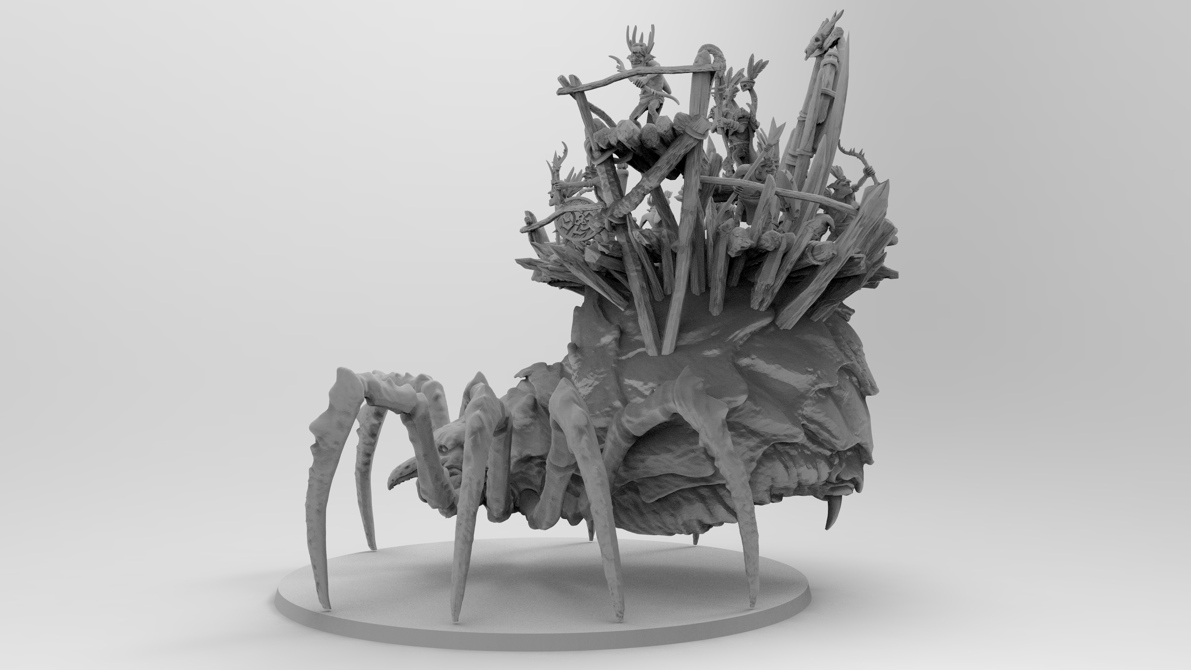 untitled.1145.jpg Download free 3MF file Child of Kumonga with Australian Spider-Tamer Contingent • 3D printable template, EmanG