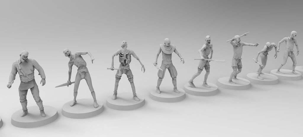 untitled.804.jpg Download free 3MF file Zombies (28mm) • 3D printer design, EmanG