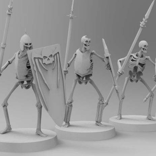 untitled.458.jpg Télécharger fichier 3MF gratuit Spooky Scary Skeleton Warriors • Design pour imprimante 3D, EmanG