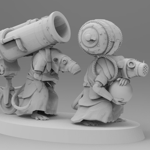 untitled.1515.jpg Download free 3MF file Ratman Weapon Squads • 3D printable object, EmanG