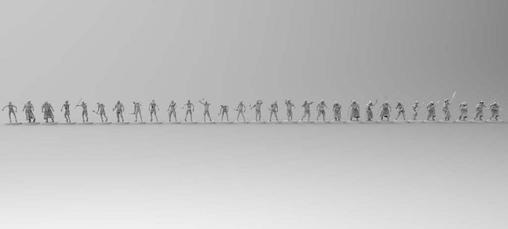 untitled.800.jpg Download free 3MF file Zombies (28mm) • 3D printer design, EmanG