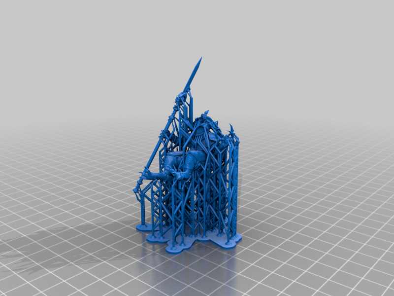 Kroq-Gar_Supported.png Download free 3MF file One-Armed Dino-Jesus & His Pet Tyrannosaur • 3D printing model, EmanG