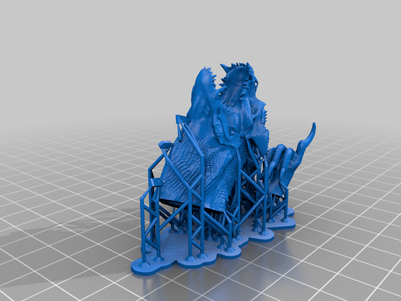Grymloq_Head_and_Arms_Supported.png Download free 3MF file One-Armed Dino-Jesus & His Pet Tyrannosaur • 3D printing model, EmanG