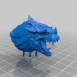 Grymloq_Head.png Download free 3MF file One-Armed Dino-Jesus & His Pet Tyrannosaur • 3D printing model, EmanG