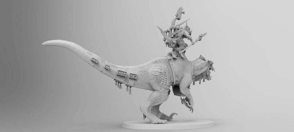 untitled.564.jpg Download free 3MF file One-Armed Dino-Jesus & His Pet Tyrannosaur • 3D printing model, EmanG