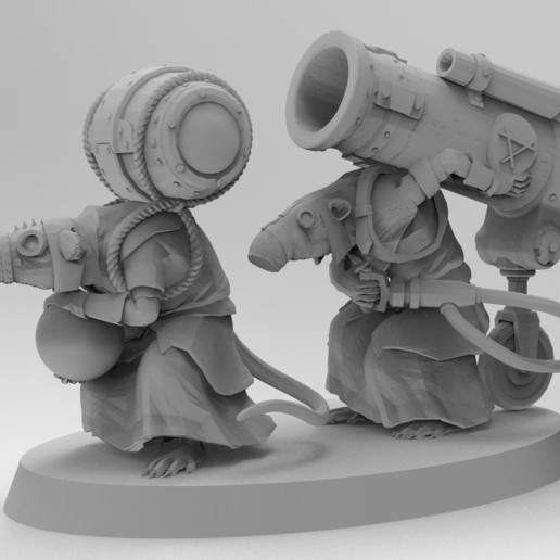 untitled.1516.jpg Download free 3MF file Ratman Weapon Squads • 3D printable object, EmanG