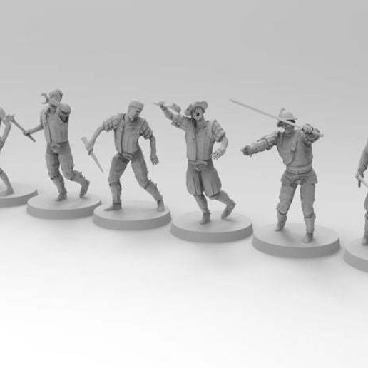 untitled.805.jpg Download free 3MF file Zombies (28mm) • 3D printer design, EmanG