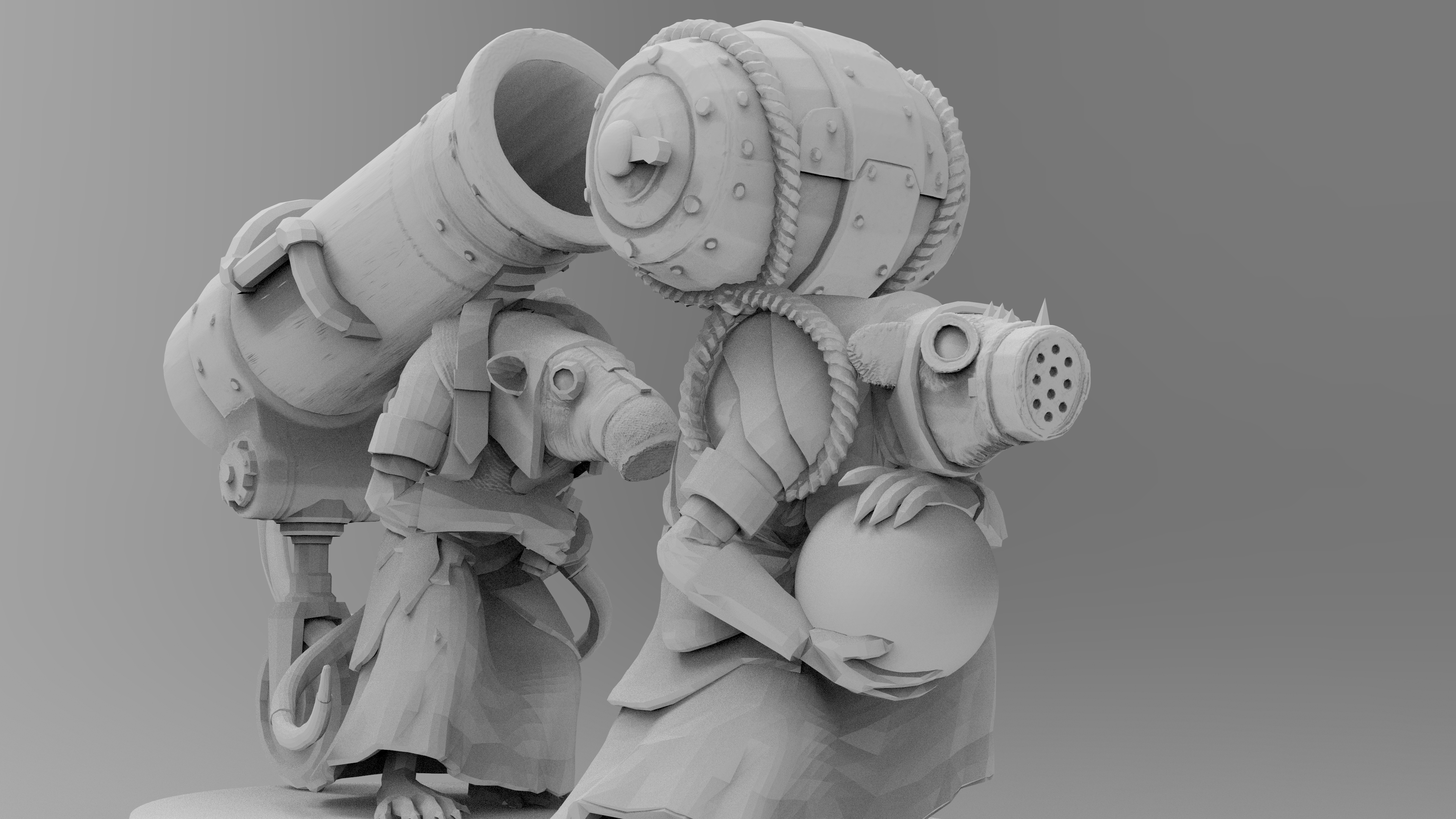 untitled.1517.jpg Download free 3MF file Ratman Weapon Squads • 3D printable object, EmanG