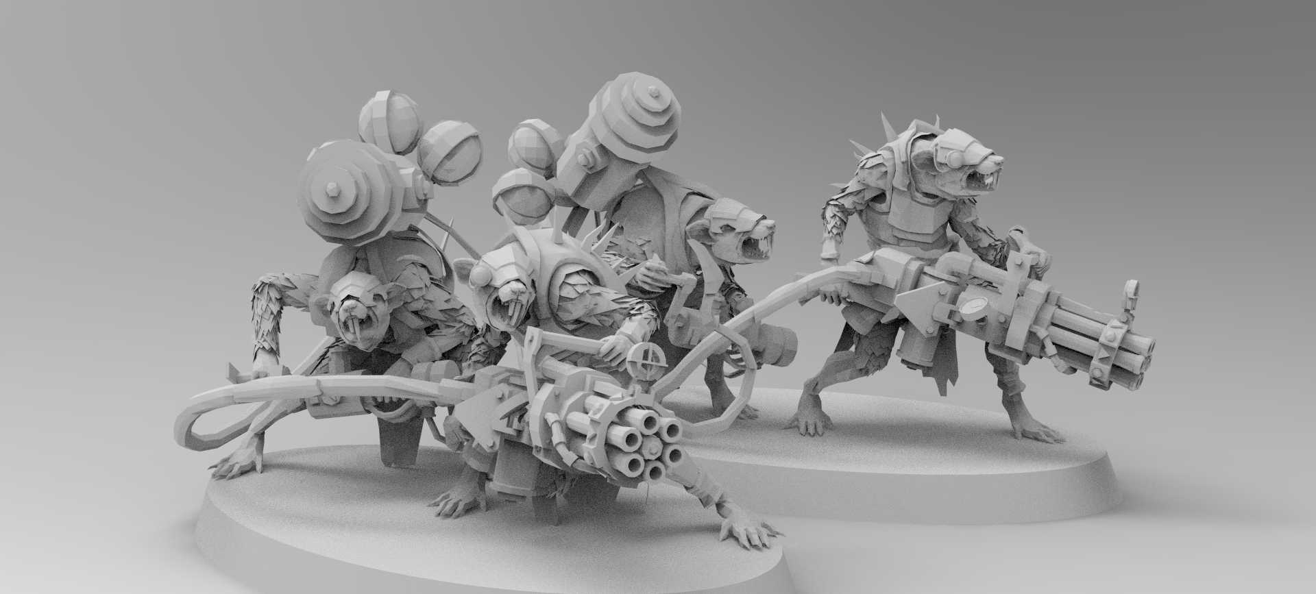 untitled.168.jpg Download free 3MF file Ratman Weapon Squads • 3D printable object, EmanG