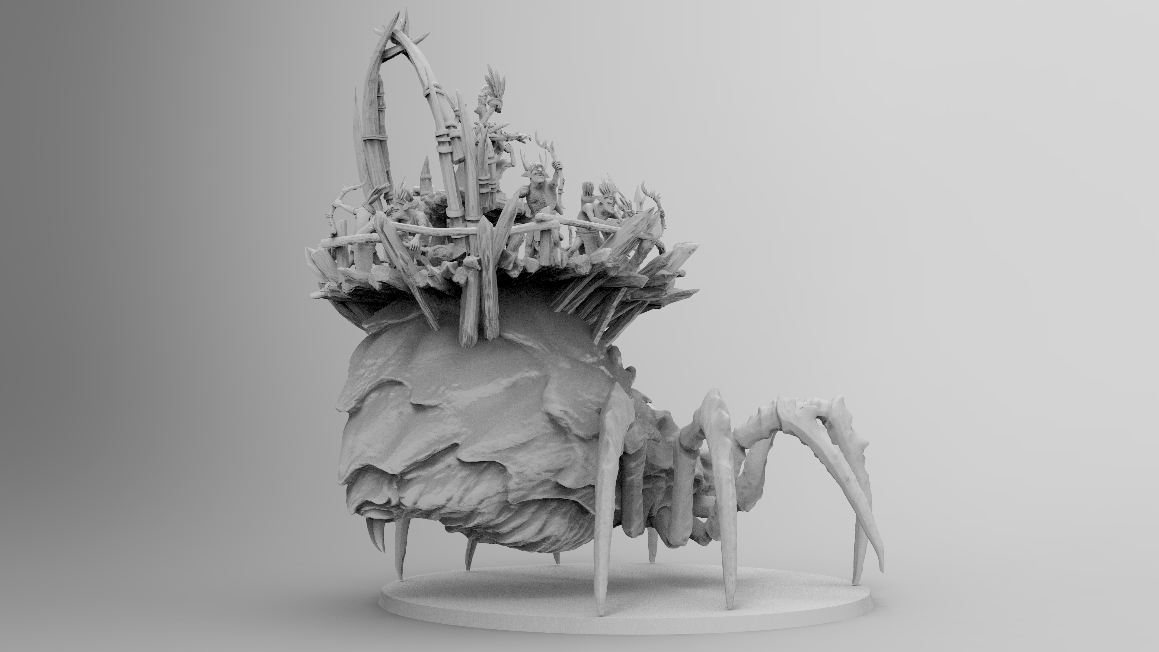 untitled.1147.jpg Download free 3MF file Child of Kumonga with Australian Spider-Tamer Contingent • 3D printable template, EmanG