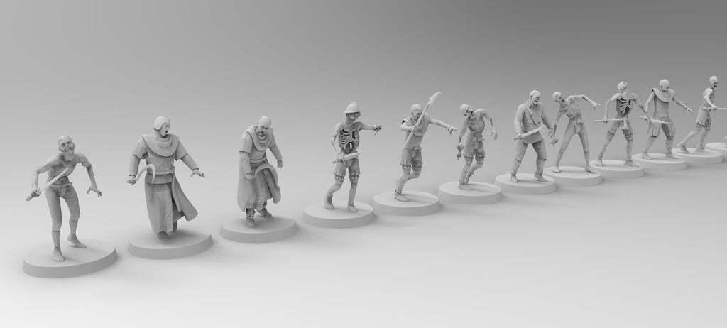 untitled.803.jpg Download free 3MF file Zombies (28mm) • 3D printer design, EmanG