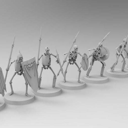 untitled.454.jpg Télécharger fichier 3MF gratuit Spooky Scary Skeleton Warriors • Design pour imprimante 3D, EmanG