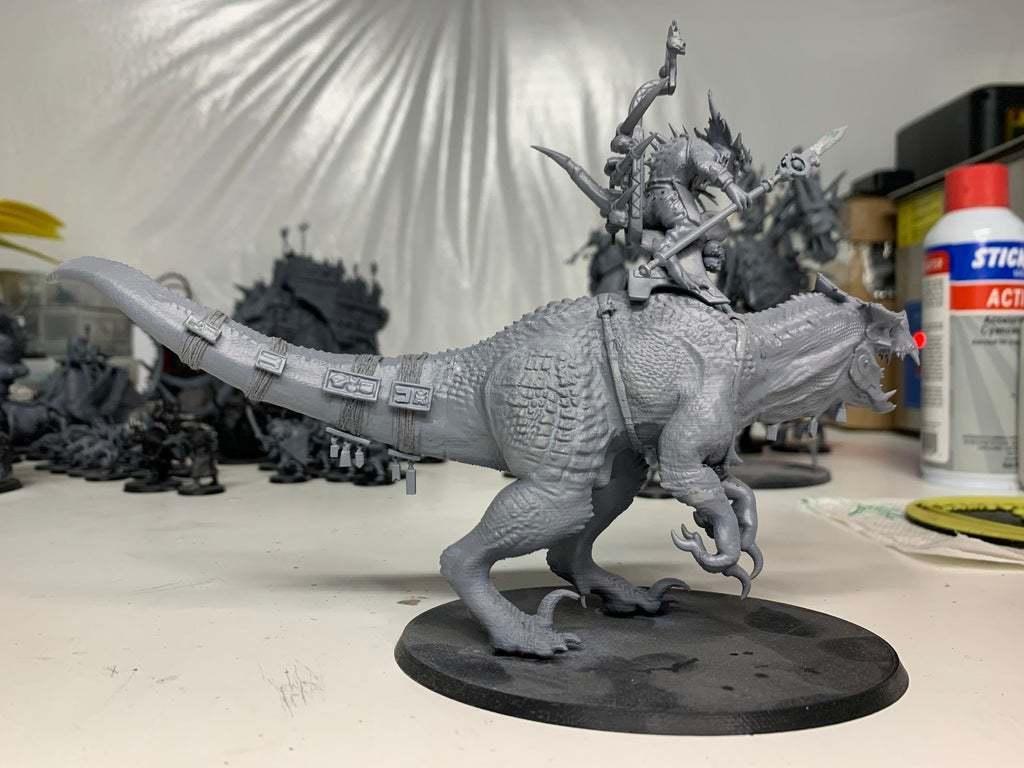 IMG_0140.JPG Download free 3MF file One-Armed Dino-Jesus & His Pet Tyrannosaur • 3D printing model, EmanG