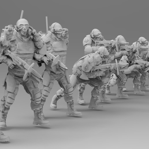 untitled.1373.jpg Download free 3MF file Combine Overwatch Soldiers (Half-Life) • 3D print template, EmanG