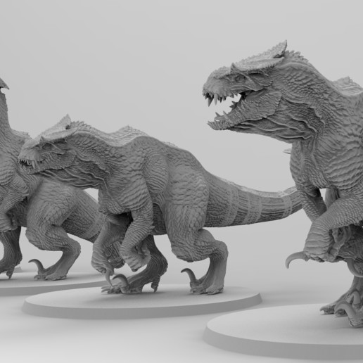 Download free 3D printer templates Untamed Tyrannosaurs, EmanG