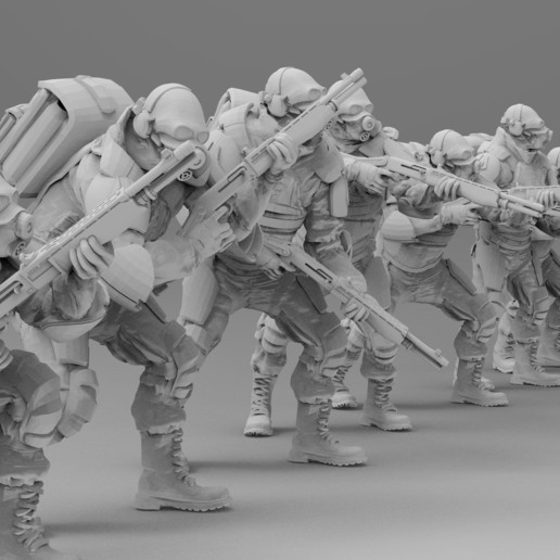 untitled.1366.jpg Download free 3MF file Combine Overwatch Soldiers (Half-Life) • 3D print template, EmanG