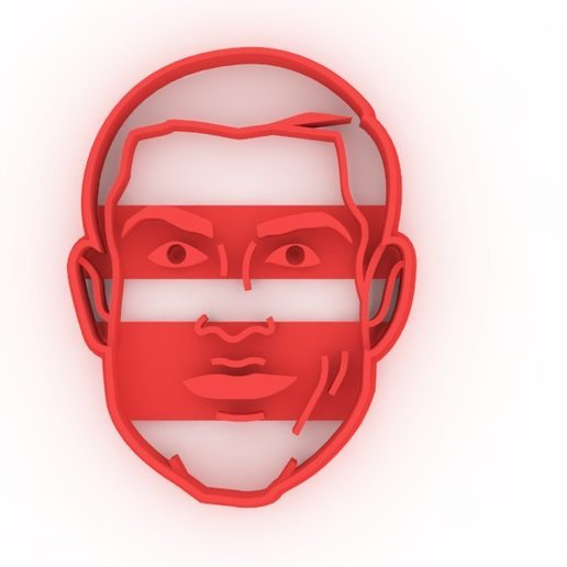 Download 3D printer templates Cristiano Ronaldo cutting, DIMP