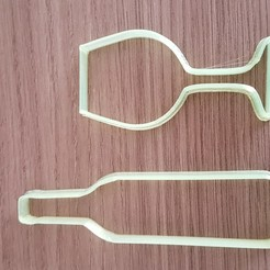20200922_144904.jpg Download STL file Wine and glass shaped cookie cutters • Design to 3D print, DIMP