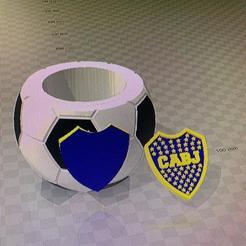 mate boca separado.jpg Download free STL file mate boca pelota de futbol 2 STL • 3D printer template, IMPRESION3DCORDOBAA