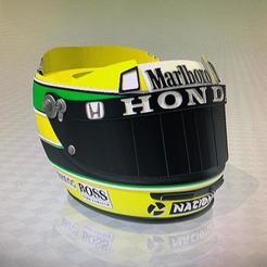 casco senna 1.jpg Télécharger fichier STL gratuit mate casco de ayrton senna • Plan à imprimer en 3D, IMPRESION3DCORDOBAA