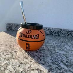MATE BASQUET.jpg Télécharger fichier STL gratuit mate pelota de basquet spalding • Objet pour impression 3D, IMPRESION3DCORDOBAA