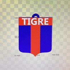 llavero tigre.jpg Download free STL file llavero club tigre • 3D printing model, IMPRESION3DCORDOBAA
