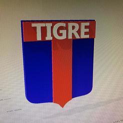 Télécharger fichier impression 3D logo club atletico tigre, IMPRESION3DCORDOBAA
