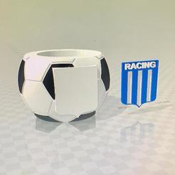 mate racing de avellaneda.jpg Download free STL file mate racing de avellaneda pelota de futbol • Object to 3D print, IMPRESION3DCORDOBAA