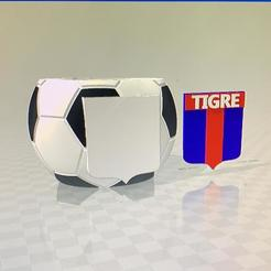 mate tigre.jpg Download free STL file mate club tigre pelota de futbol 2 stl • 3D print object, IMPRESION3DCORDOBAA