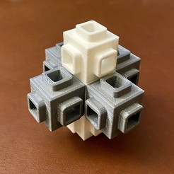IMG_0592.jpg Download STL file Element cube series - Tesseract No.1, calibration model 2x2x2cm3 • Design to 3D print, Simply_Useful_3D