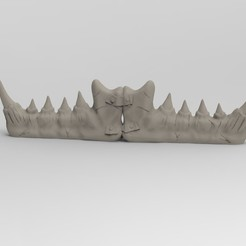 denture.jpg Télécharger fichier STL Barricade orks • Objet pour impression 3D, AtisboStudios