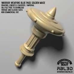 rbl3d_imperial_mace_golden.jpg Télécharger fichier OBJ gratuit Dragons, chevaliers et poignards Masse d'or stl • Plan pour impression 3D, RBL3D