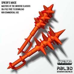 RBL3D_spikor-classic-mace.jpg Télécharger fichier OBJ gratuit Spikor's Spiked Mace de l'arme Motu Classics • Modèle à imprimer en 3D, RBL3D