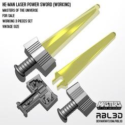 RBL3D_laser-power-sword_working.jpg Download OBJ file He-man Laser Power Sword 3-piece working set  Vintage • 3D printable object, RBL3D