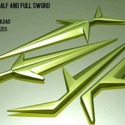 RBL3D_blackstar_sword-render_DA.jpg Télécharger fichier OBJ gratuit John Blackstar Half and full Sword, Vintage et Classic • Plan à imprimer en 3D, RBL3D