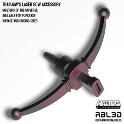 RBL3D-Trapjaw_laser_bow.jpg Download OBJ file Trap Jaw Laser Bow accessory Origins/Vintage • Model to 3D print, RBL3D