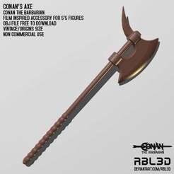 RBL3D_conan_the_barbarian_axe.jpg Télécharger fichier OBJ gratuit Conan la Hache de Barbarie • Design imprimable en 3D, RBL3D