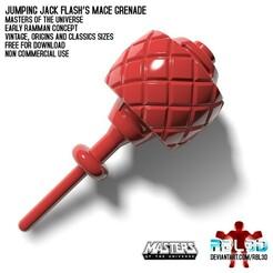 RBL3D_ramman_grenade_mace_1.jpg Download free OBJ file Ramman/Jumping Jack Flash Grenade Mace weapon • 3D print template, RBL3D