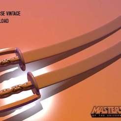 jitsu-v_swords.jpg Download free OBJ file Jitsu's Katana Sword from Motu Vintage weapon • 3D printing object, RBL3D