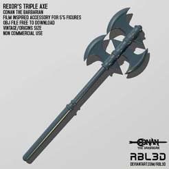 RBL3D_conan_the_barbarian_rexor_axe.jpg Télécharger fichier OBJ gratuit La hache de Rexor, Conan le Barbare • Plan imprimable en 3D, RBL3D