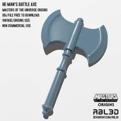RBL3D_He-man_axe_origins.jpg Download free OBJ file He-man Battle Axe origins weapon • 3D print design, RBL3D