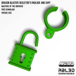 RBL3D_padlock-and-cuff.jpg Télécharger fichier OBJ gratuit Cadenas et manchette du Dragon Blaster Skeletor - Motu Vintage • Plan à imprimer en 3D, RBL3D