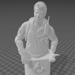 Screenshot (22).png Download STL file Ghostbusters Ray Stantz bust with accessories 3D print model • 3D print model, altaircocola