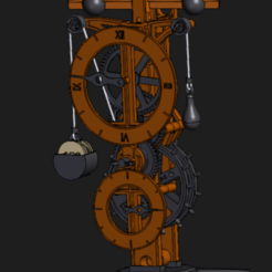 Screenshot 2020-10-17 200728.png Download STL file Da Vinci's mechanical Clock • 3D printer model, frobalino2001