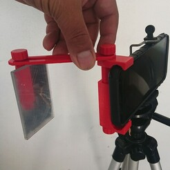 RGDI Mirror Clip 11.jpg Télécharger fichier STL Clip de téléphone portable en miroir pour le tir à la fronde • Design pour imprimante 3D, RGDI