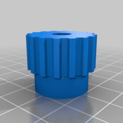 Download free 3D printing files My Customized Parametric pulley -16 teeth, ArtesDNet